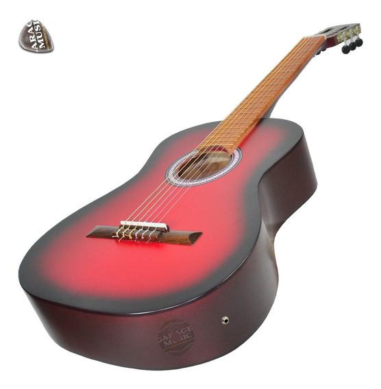Guitarra Electro Criolla Clasica Estudio Mate Funda Curso