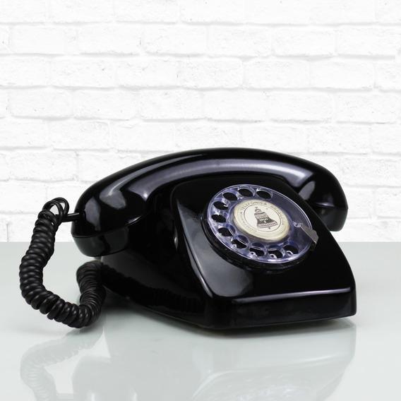 Telefone De Disco Analogico Antigo Retro P/ Sala Casa