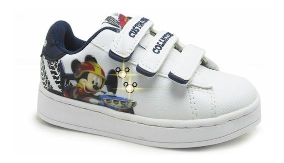 Zapatillas Addnice Babyflow Mickey Race Velcro Bla De Niños