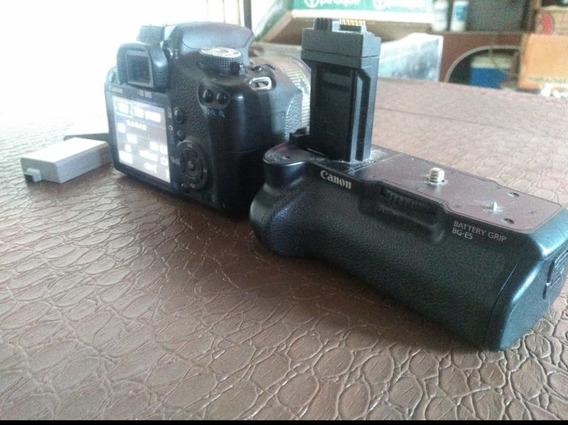 Camera Canon T3 Com Grip Baterias E Bolsa De Brinde