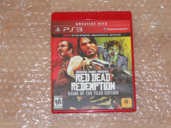 Red Dead Redemption - Game Of The Year Edition - Ps3 - Novo