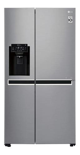 Imagen 1 de 5 de Heladera inverter no frost LG GS65SPP1 platinum silver con freezer 601L 220V