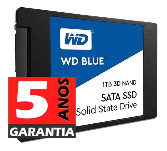 Ssd 1tb Wd Blue Sata3 Nova Versão Nand- Produto 100% Original, Na Embalagem Original Lacrado - Gar 5 Anos- N. Fiscal
