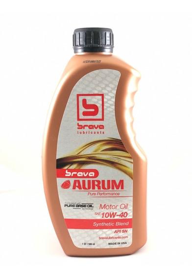 Aceite 10w40 Semisintetico Marca Brava Importado
