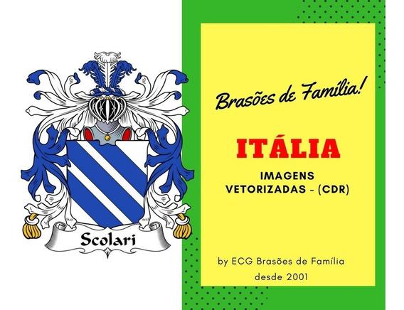 Brasão De Famílias Italianas Alta Definição Em Corel Draw