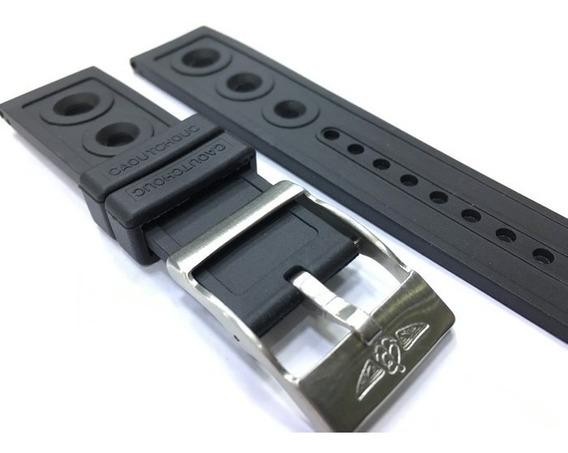 Pulseira Borracha Breitling 22mm Completa - Linda ! Nova.