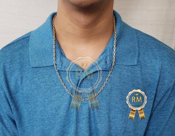 Cordão Corrente 10g Cadeado Oco De Ouro 18k 750