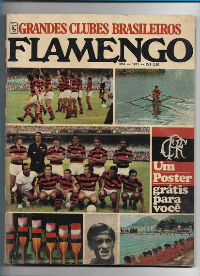 *sll* Revista Grandes Clubes Brasileiro Flamengo Com Poster