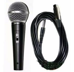 Microfone Profissional C Cabo M-58 Sm58 M58 Sm-58 Wvngr Mxt