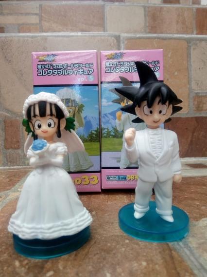 Figura Coleccionable 8cm La Boda De Goku Y Milk Dragon Ball