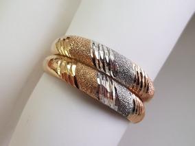 Aparador Duplo Em Ouro 18k Três Cores Tricolor Branco Rosê E