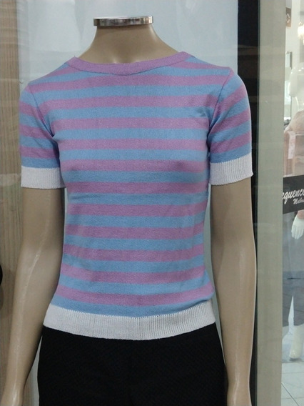 Blusas Femininas T-shirts Verão Listada Roupas Evangelicas