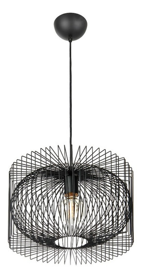 Lámpara E27 40w Colgante Pantalla Formas Geométricas Acero