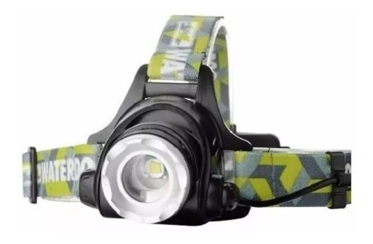 Linterna Frontal Minera Waterdog 800lum Recargable