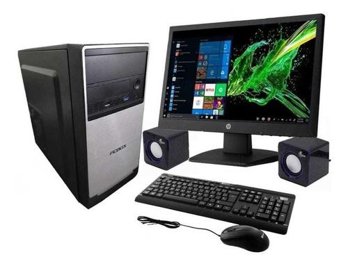 Imagen 1 de 2 de Computadora Pc Box Amd E1 6010 + Monitor