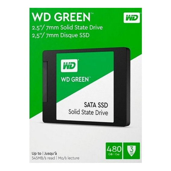 Hd Ssd Sata Iii Wd Green 480gb 2.5