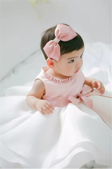 Vestido Bebe Infantil Princesa Batisado Batismo