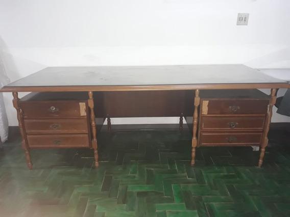Mesa Antiga Para Escritorio (retro) Grande Usada