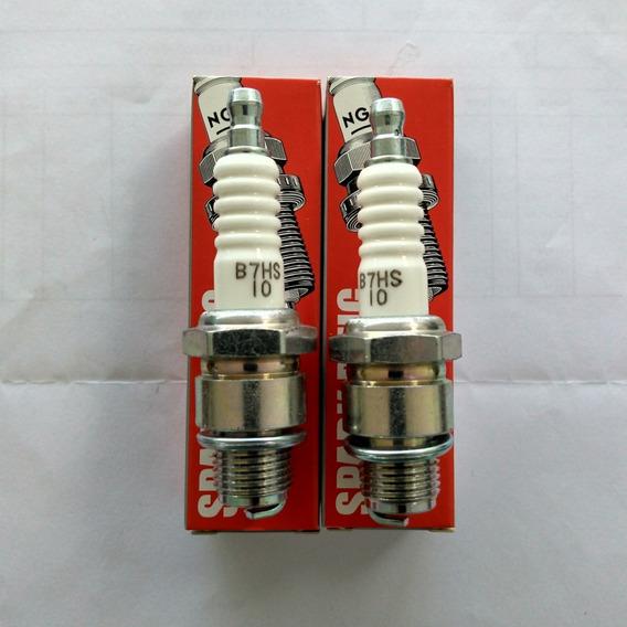 Jogo Com 2 Velas Original Motor Yamaha 2t 8 / 15 / 25 Hp