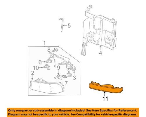 Genuine GM Parts 15199561 Passenger Side Parking Light Assembly