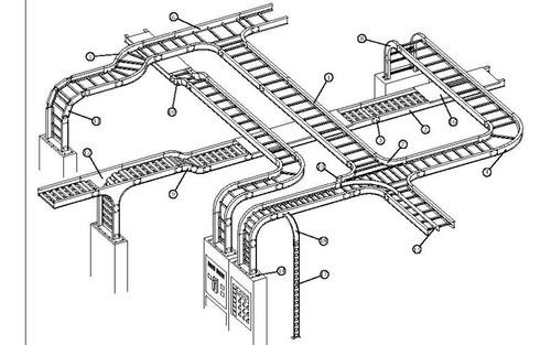 Bandejas Portacables Tipo Escalera, Galvanizado En Caliente