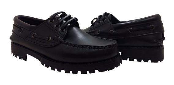 Zapato Leñador Timber Kraim Art 32 Cuero Cocido Suela Goma N