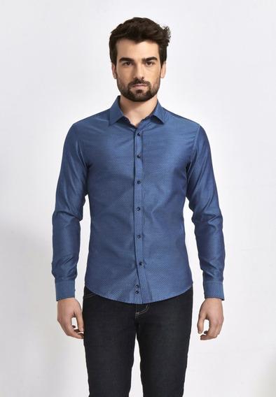 Camisa Azul Slim Zero