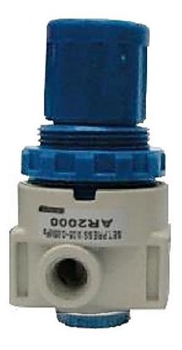 Regulador De Pressão Mini 1/8''; 1/4'' Bsp Branco