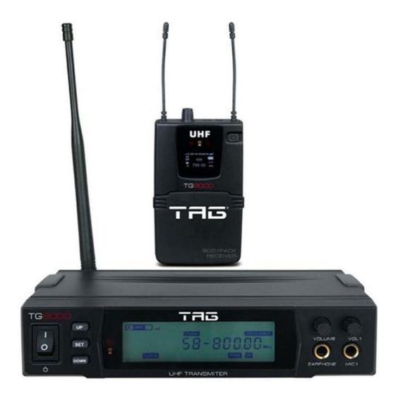 Monitor Retorno Tag Sound Sem Fio Tg9000 Com Receptor