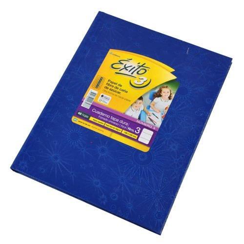 Cuaderno Exito Universo 3 Tipo Abc Azul Rayado 19x24cm 48hjs