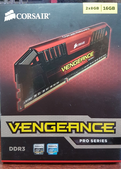 Memória Corsair Vengeance Pro 16gb (2x8) 2400 Mhz Vermelha