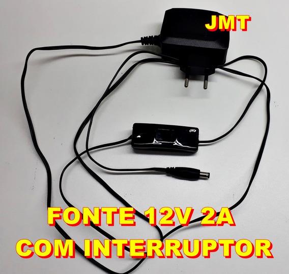 Fonte P/ Fita / Barra De Led 12v 2,5a Bivolt C/ Interruptor