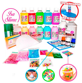 Kit Para Fazer Slime Premium De Verão Isa Slime - Frutinhas