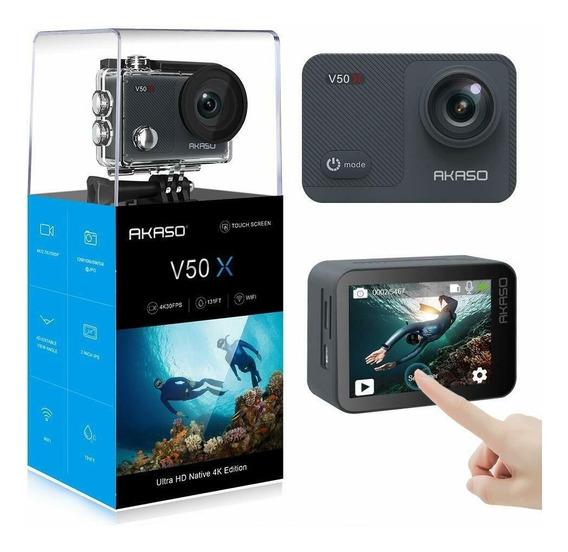 Câmera Akaso V50 Pro Nativo 4k 30fps 20mp Wi-fi Ação Swow