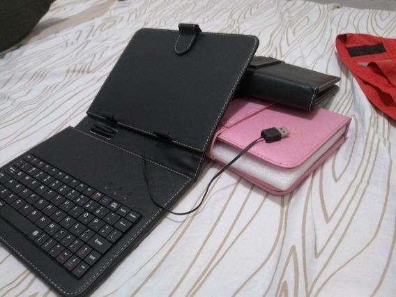 Capa De Tablet Com Teclado (usb)