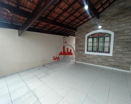 Imagem 1 de 16 de Casa Geminada 02 Dormitórios Na Guilhermina Praia Grande - Ca00321 - 69442941