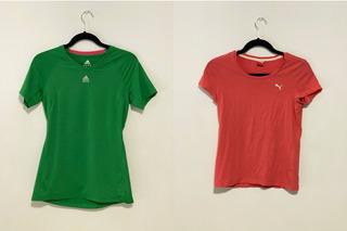 adidas / Puma 2 Playeras Deportivas Mujer Small Originales