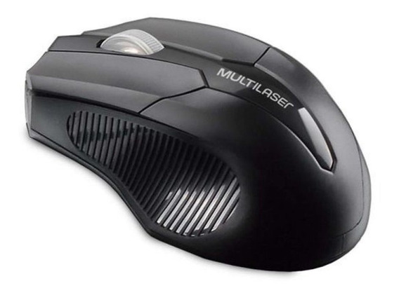 Mouse Multilaser Sem Fio 2.4 Ghz Usb Box Preto Mo264