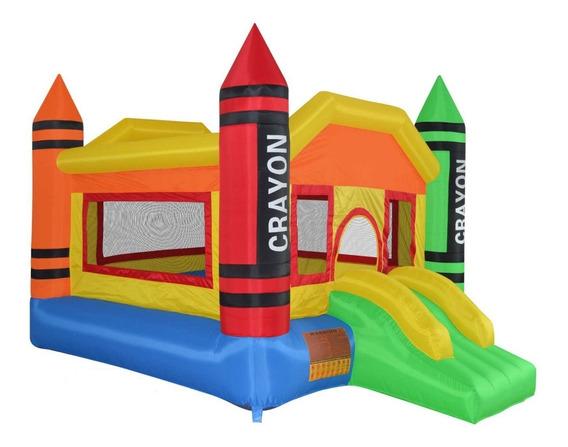 Brincolin Inflable Niños Crayolas De Colores Fiestas Eventos