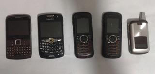 Lote Com 5 Celulares Motorola / Blackberry