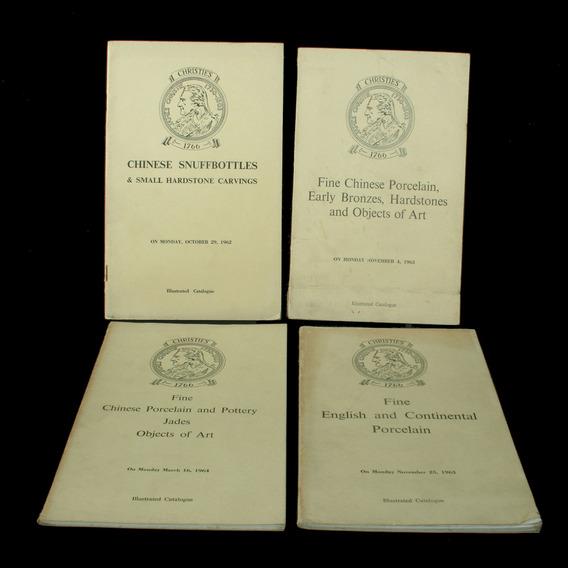 4 Catálogos Ilustrados De Leilões Da Christies - Londres