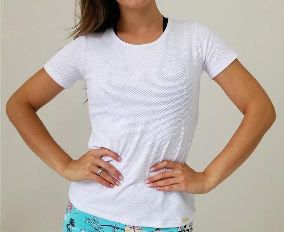 Kit 5 Camisas Blusa Feminina Academia De Tela Com Manga