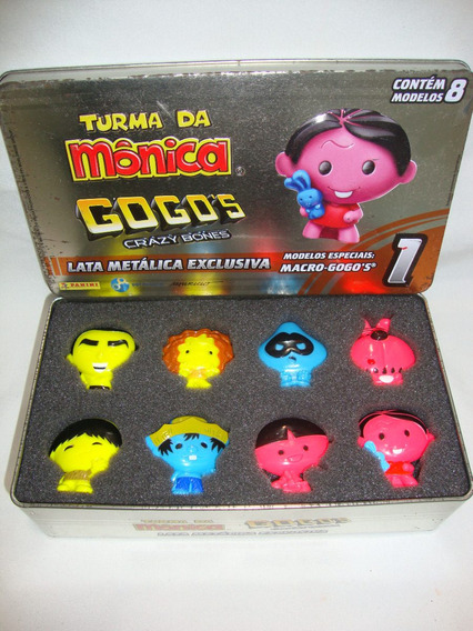 Bonecos Macro Gogos Turma Da Monica Panini Lata Cod.003