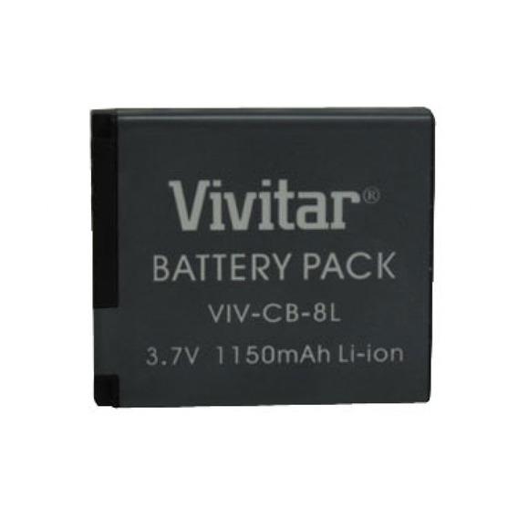 Bateria Recarregável Equiv A Canon Mod Nb8l Vivitar Vivcb8l