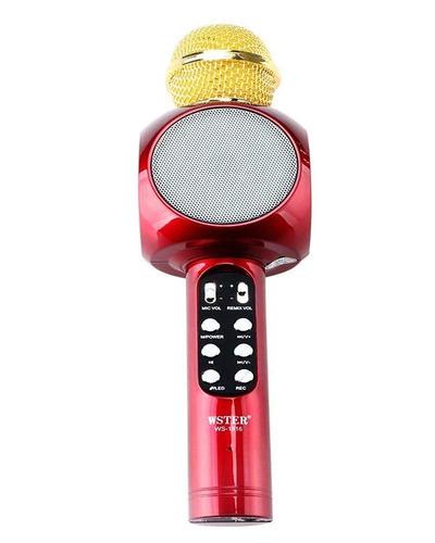 Microfono Inhalambrico Altavoz Luces Led Karaoke / Soy Tiend