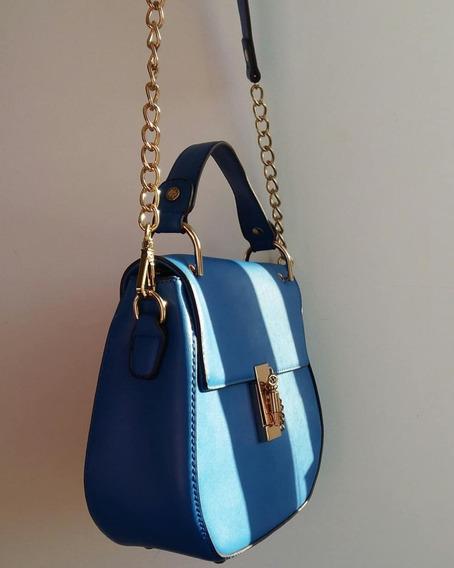 Cartera De Mano Y Bandolera Chenson Original Azul