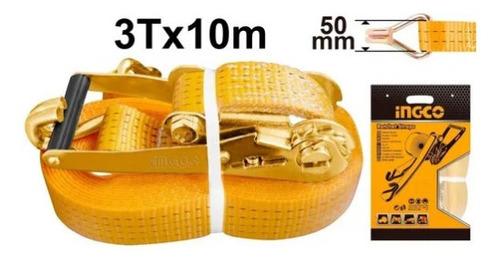 Cinta Catraca Sujecion Ingco 3 Ton 50mm 10m Hrsp3101