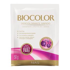 Descolorante Em Sachê Biocolor Queratina Com 50g