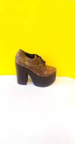Abotinado 13 Cm Alto - Cuero Reptil - Budapest Shoes Art. 88