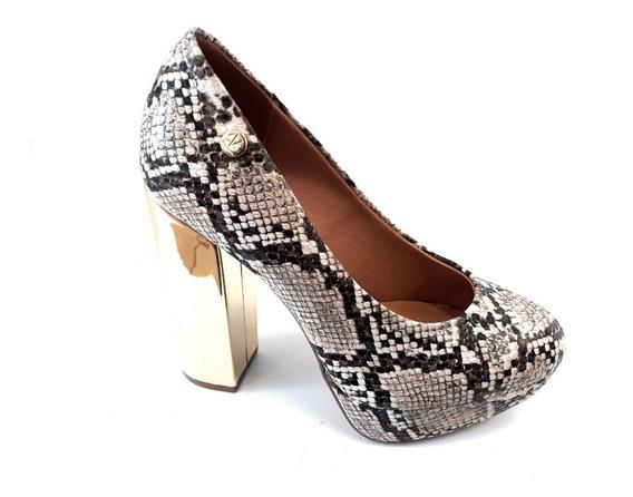 Zapato Mujer Vizzano Stileto Taco 12cm Cerrado Reptil 2019